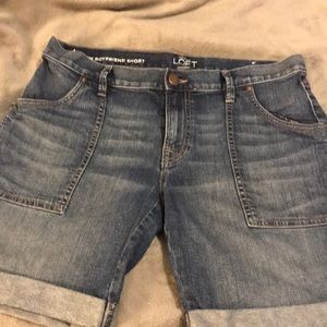 LOFT denim shorts